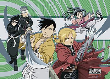 Fullmetal Alchemist Brotherhood Wall Scroll - Ed and Yao Group [LONG]