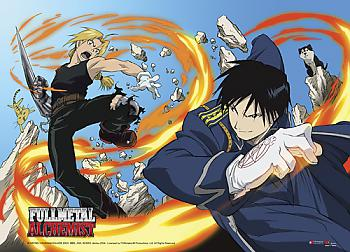 Fullmetal Alchemist Wall Scroll - Ed vs. Roy [LONG]