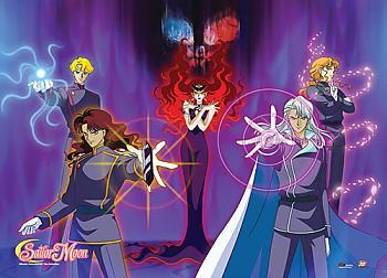 Sailor Moon Fabric Poster - Queen Beryl's Group Villains [LONG]