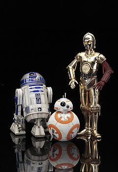 Star Wars ArtFX+ 1/10 Scale Figure - C-3PO & R2-D2 w/ BB-8