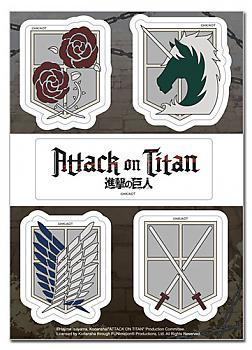 Attack On Titan Sticker - Emblems Set