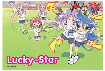 Lucky Star Wall Scroll - Soccer Play [LONG]