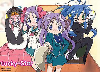 Lucky Star Wall Scroll - Cosplay Girls [LONG]