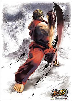 Street Fighter IV Fabric Poster - Ken Uppercut