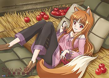 Spice and Wolf Fabric Poster - Holo Apples and Hay [LONG]