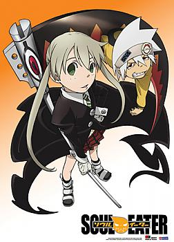 Soul Eater Fabric Poster - Maka and Soul Team Up