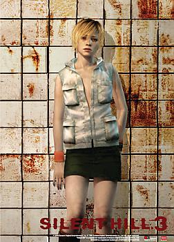 Silent Hill 3 Wall Scroll - Heather Blood Tiles