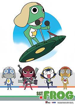 Sgt. Frog Fabric Poster - Flying Keroro and Group