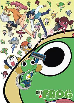 Sgt. Frog Fabric Poster - Collage