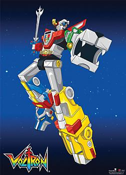 Voltron Wall Scroll - Voltron Battle Pose