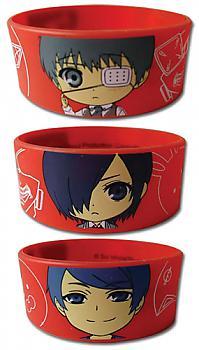 Tokyo Ghoul Wristband - Kaneki, Touka, Shuu