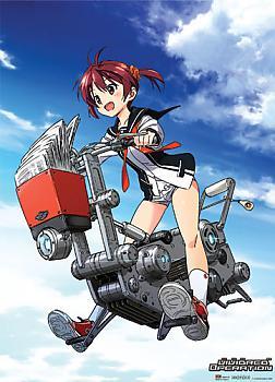 Vividred Operation Wall Scroll - Akane on Flying Bike