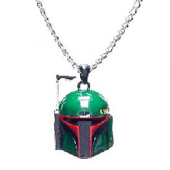 Star Wars Necklace - Boba Fett Head 3D