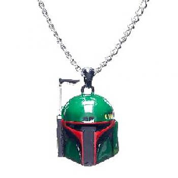 Star Wars Necklace - Boba Fett Head 3D
