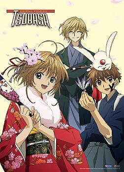 Tsubasa Wall Scroll - Syaoran, Sakura, and Fai Kimono