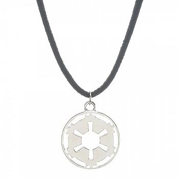 Star Wars Necklace - Galactic Empire Cutout on Suede Cord