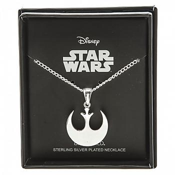Star Wars Necklace - Rebel Alliance Silver Plated Boxed