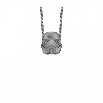 Star Wars Necklace - Stormtrooper 3D Gunmetal