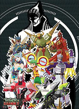Tiger & Bunny Wall Scroll - Heroes & Lunatics