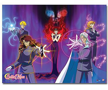 Sailor Moon Wall Scroll - Queen Beryl's Group Villains [LONG]