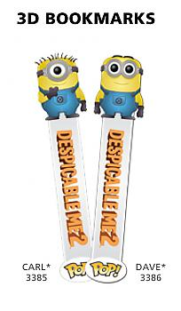 Despicable Me 2 3D POP! Vinyl Bookmark - Carl Minion