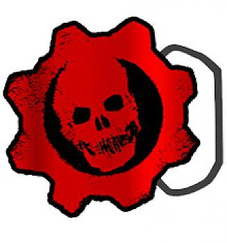 Gears of War Belt Buckle - Crimson Omen COG