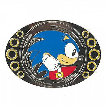 Sonic The Hedgehog Belt Buckle - Sonic Gold Rings Spinner (Spins)
