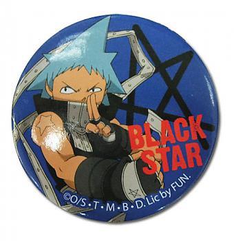 Soul Eater Button - Black Star