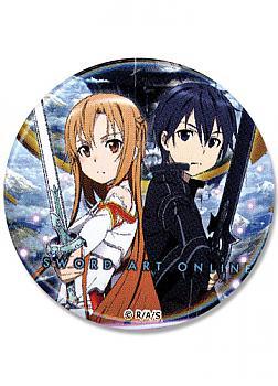 Sword Art Online 1.25'' Button - Asuna & Kirito Sword Ready