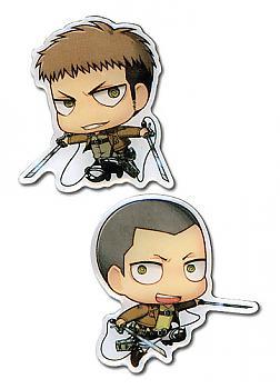 Attack on Titan Pins - SD Jean & SD Connie (Set of 2)