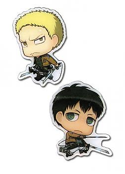 Attack on Titan Pins - SD Reiner & SD Bertholdt (Set of 2)