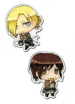Attack on Titan Pins - SD Sasha & SD Anna (Set of 2)