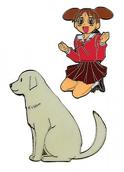 Azumanga Daioh Pins - Chiyo and Dog (Set of 2)
