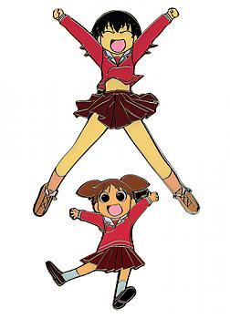 Azumanga Daioh Pins - Chiyo and Tomo (Set of 2)