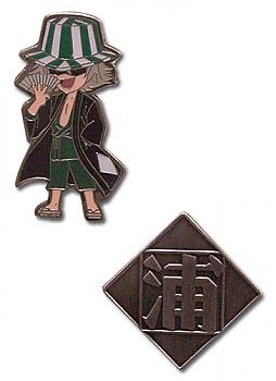Bleach Pins - Kisuke Urahara and Icon (Set of 2)