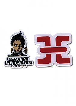 Deadman Wonderland Pins - Ganta & Prison Logo (Set of 2)