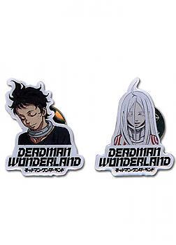 Deadman Wonderland Pins - Shiro & Ganta Closed Eyes (Set of 2)