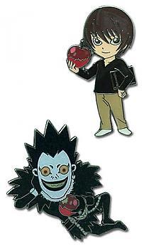 Death Note Pins - Chibi Light and Ryuk (Set of 2)