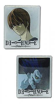 Death Note Pins - Light and Ryuk Square Potraits (Set of 2)