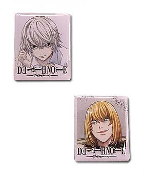 Death Note Pins - Near and Mello (Set of 2)
