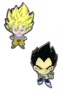 Dragon Ball Z Pins - Super Saiyan Goku and Vegeta (Set of 2)