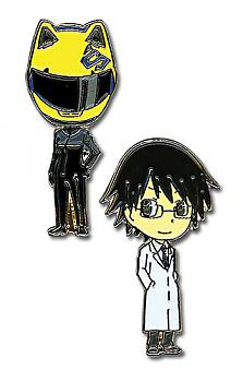 Durarara!! Pins - Celty and Shinra (Set of 2)