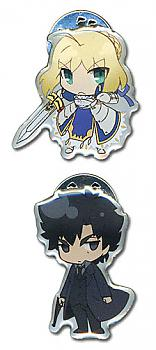 Fate/Zero Pins - Saber and Kintsugu SD (Set of 2)