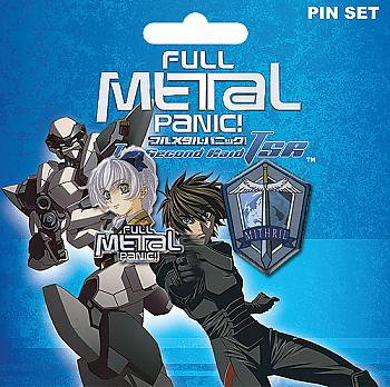 Full Metal Panic! Pins - Teletha and Mithril Symbol (Set of 2)