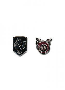 FullMetal Alchemist Brotherhood Pins - Icons (Set of 2) (State Alchemist / Ouroboro)