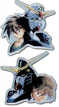 Gundam Wing Pins - Heero and Duo (Set of 2)