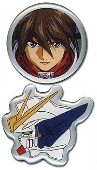 Gundam Wing Pins - Heero and Wing (Set of 2)
