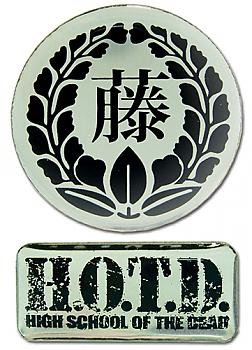 High School of the Dead Pins - Logos (Set of 2)