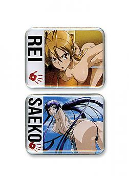 High School of the Dead Pins - Rei and Saeko (Set of 2)