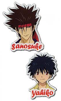 Kenshin Pins - Sanosuke & Yahiko (Set of 2)
